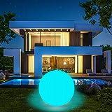 Coolwest - Illuminazione galleggiante per piscina, 40 cm, 16 colori, RGB LED, impermeabile, IP68, luce notturna, per esterni, per laghetto, piscina e feste (1 pezzo)