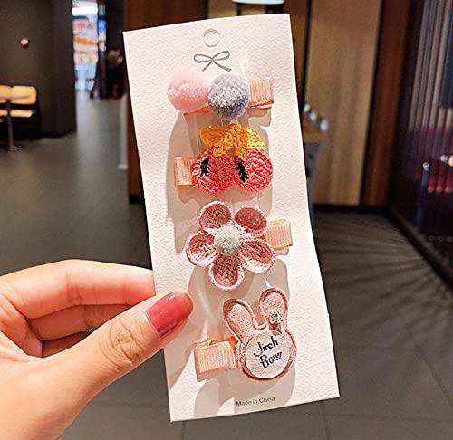 Clip de pelo de dibujos animados clips para niñas accesorios coloridos 8pcs/set