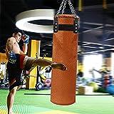 Saco de boxeo pesado para colgar, saco de boxeo sin relleno, con cadenas de gancho de techo, para adultos, niños, artes marciales, artes marciales, karate, taekwondo, talla L