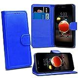 LG K8 2018 LG K9 Cases - Blue Premium Wallet Leather Flip