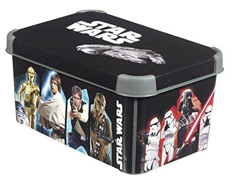 Curver Boîte Déco Stockholm S-Décor Star Wars, 225220, Noir, 29.5x19.5x13.5 cm