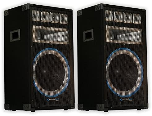 Technical Pro VRTX15 Passive Speaker Pair 2400 Watts PA DJ Karaoke Band Studio 2VRTX15 product image