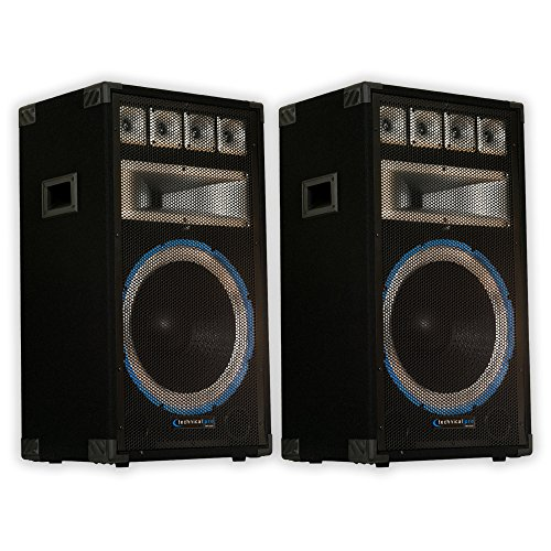 Technical Pro VRTX15 Passive Speaker Pair 2400 Watts PA DJ Karaoke Band Studio 2VRTX15