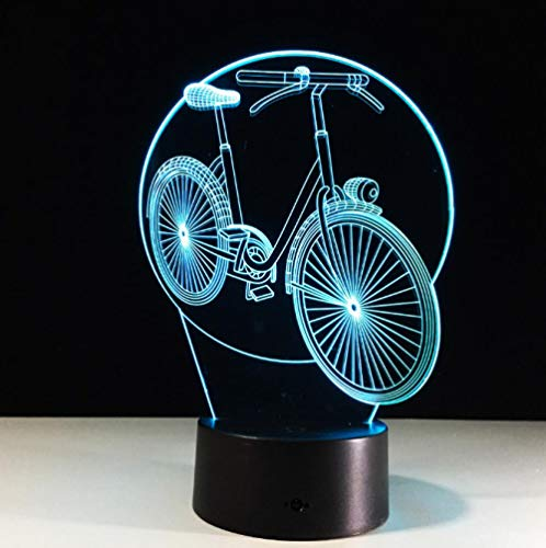 SFALHX Luz de la noche 3D Bicicleta 7 colores Cambio con Mando...