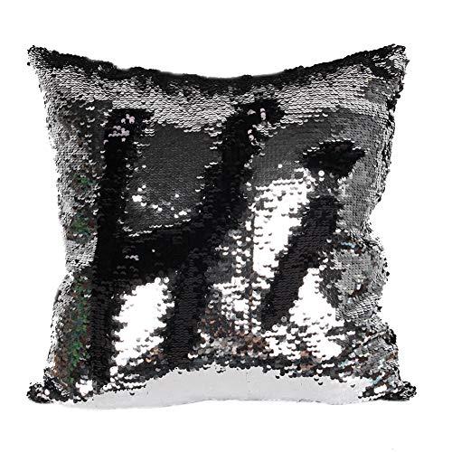 Kanggest.Almohadón de Lentejuelas Reversibles Funda de Cojín con Lentejuelas Mágicas Fundas de Almohada Pillow Case Cover para Sofá Dormitorio Coche Pulgada 45 x 45 cm