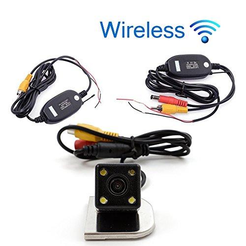 KUNFINE CCD Track Wireless Auto Telecamera Posteriore per Ford Focus 2012/2014/2015Telecamera di retromarcia Telecamera Backup parcheggio Camera Track Line Night Vision LED Impermeabile