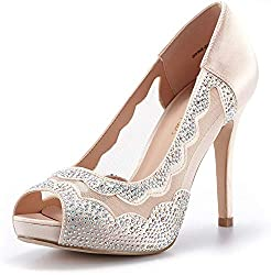 Divine-01 High Heels Champagne Color Shoes