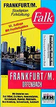 Map Frankfurt a. M., Offenbach (Falk Plan) (German Edition) [German] Book