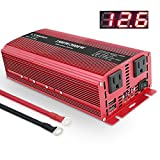 LVYUAN 1500W/3000W Power Inverter Dual AC Outlets and Dual USB Charging Ports DC