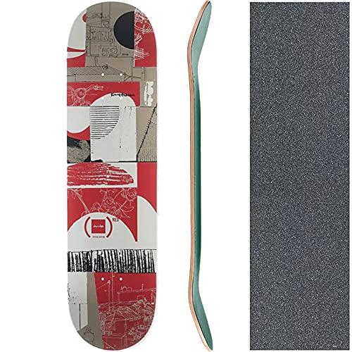 チョコレート CHOCOLATE スケートボード デッキ ANDERSON (RED) DECK NO230 (8.0インチ, 7プライ)