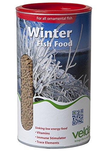 Velda 124150 Winterfutter für Teichfische, Sinkend, Winter Fish Food, 1,25l