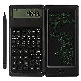 Calcolatrice zootop Calcolatrice scientifica ultrasottile con lavagna cancellabile LCD a 10 cifre Matematica...