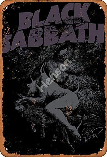Black Sabbath God Is Dead - Placa de metal para decoración de pared, diseño clásico, resistente al agua, para oficinas, todo tipo de personajes individuales o decoración del hogar, 20 x 30 cm