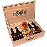 Estuche Gourmet Cervezas Sevebrau Artesanas 100% con 4 Botellas 33 cl, 2 Latas 33 cl y un Queso Cremosito del Zujar 400 gr aproximadamente