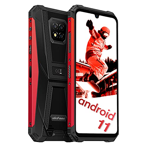 Ulefone Armor 8 Pro Rugged Cell Phones Unlocked, Waterproof Phone 6GB RAM 128GB ROM 1TB Expansion, 16MP+5MP+2MP Camera, Android 11 Octa-core, 6.1 inch Waterdrop Display, NFC, OTG, GPS, 5G WiFi, Red