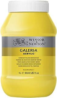 Winsor & Newton Tinta Acrílica Galeria W&N 1 Litro 120 Cadmium Yellow Medium Hue