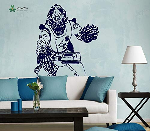 JXFM DIY Customized Wandtattoo Vinyl Abnehmbare Raumdekoration Admiral Akbar Planet Nursery Art Poster