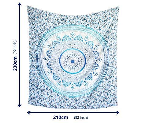 MOMOMUS Wandteppich Mandala Sun - 100% Baumwolle, Gr...