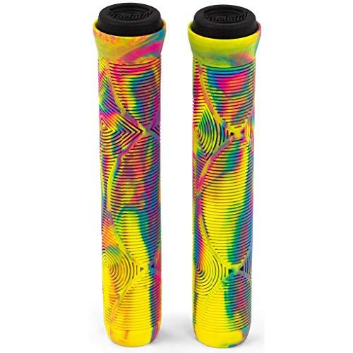 Slamm Scooters Team Swirl Bar Grips Mango Manillar para Patinete, Adultos Unisex, Multicolor (Tropical), 165 mm