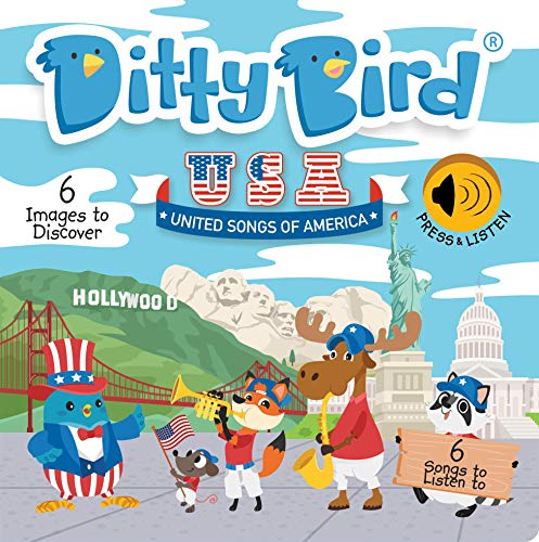DITTY BIRD Baby Sound Book: Our United Songs of America Musical Book is The Perfect Toys for 1 Year Old boy and 1 Year Old Girl Gifts. Educational Music Toys for Toddlers 1-3. Award-Winning!