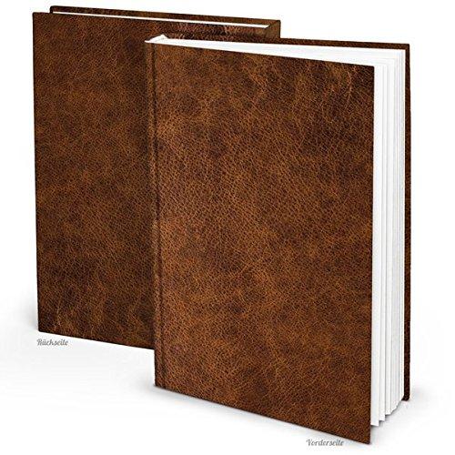 Blanko Notizbuch in Leder-Optik (Hardcover A4, Blankoseiten): Notizbuch für Gefühle, Ideen und Erlebnisse - ideal als Bullet Journal