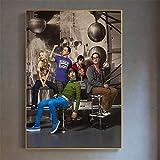 YWOHP Retro Filmplakat Theorie Wandkunst Malerei Leinwand Bild für Wohnzimmer Hauptdekoration Kinderzimmer Dekoration-30x40cm Rahmenlos