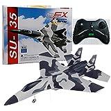 Akin RC Flugzeug, RC Segelflugzeug Spielzeug, FX-820 2.4G 2CH Fernbedienung SU-35 Segelflugzeug, DIY Fernbedienung Flugzeug Spielzeug USB