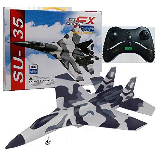 YAKAMA Fernbedienung Flugzeug für Kinder FX-820 SU-35 Segelflugzeug Flugzeugkämpfer Modell EPP-Material 2,4 GHz 2CH Ferngesteuerte Flugzeuge RTF-Flugzeuge im Freien Geschenke für Kinder (Tarnung)