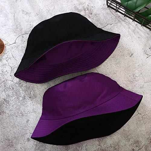 Sombrero Pescador Gorras Hombre Mujer Gorra De Doble Cara Sombrero De Cubo De Color Sólido Hombres Mujeres Sombrero De Sol Plano De Algodón Sombrero De Pescador Gorro De Cubo Cálido-H_56-58Cm_App