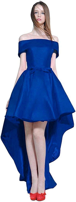 CiONE Prom Dresses High Low Wedding Dress Satin Cocktail Dress Evening Dress