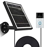 Upgrade Solar Panel Compatible with Ring Video Doorbell 2, Waterproof Charge Continuously, 5 V/ 3.5 W (Max) Output, Includes...