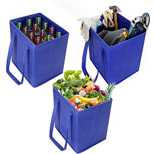 Reusable Grocery Shopping Bags, Storage Heavy Duty Reinforced Bottom for Cart, Reuseae Teusable Reauable Reuaable Useable, Canvas Tote, Xl Large, Eco, Foldable, Collapsible-