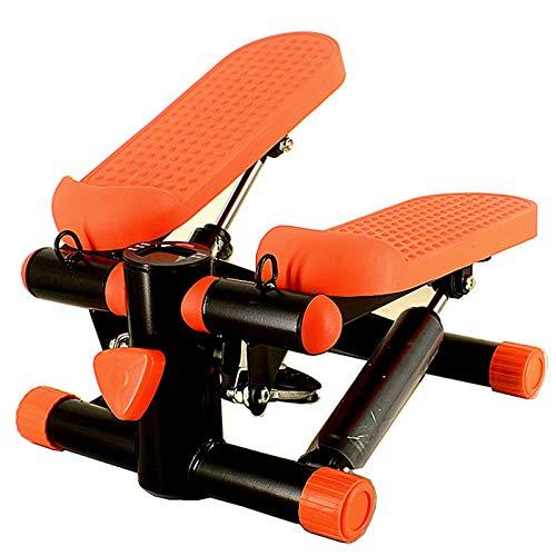 LXHkk Mini Fitness Idraulico Stepper, Uomini E Donne Up-Down-Stepper Cardio Esercizio, Step Fitness con Display Multifunzione, Twist Up-Down Stepper per Principiante, Carico - 135KG,Arancia