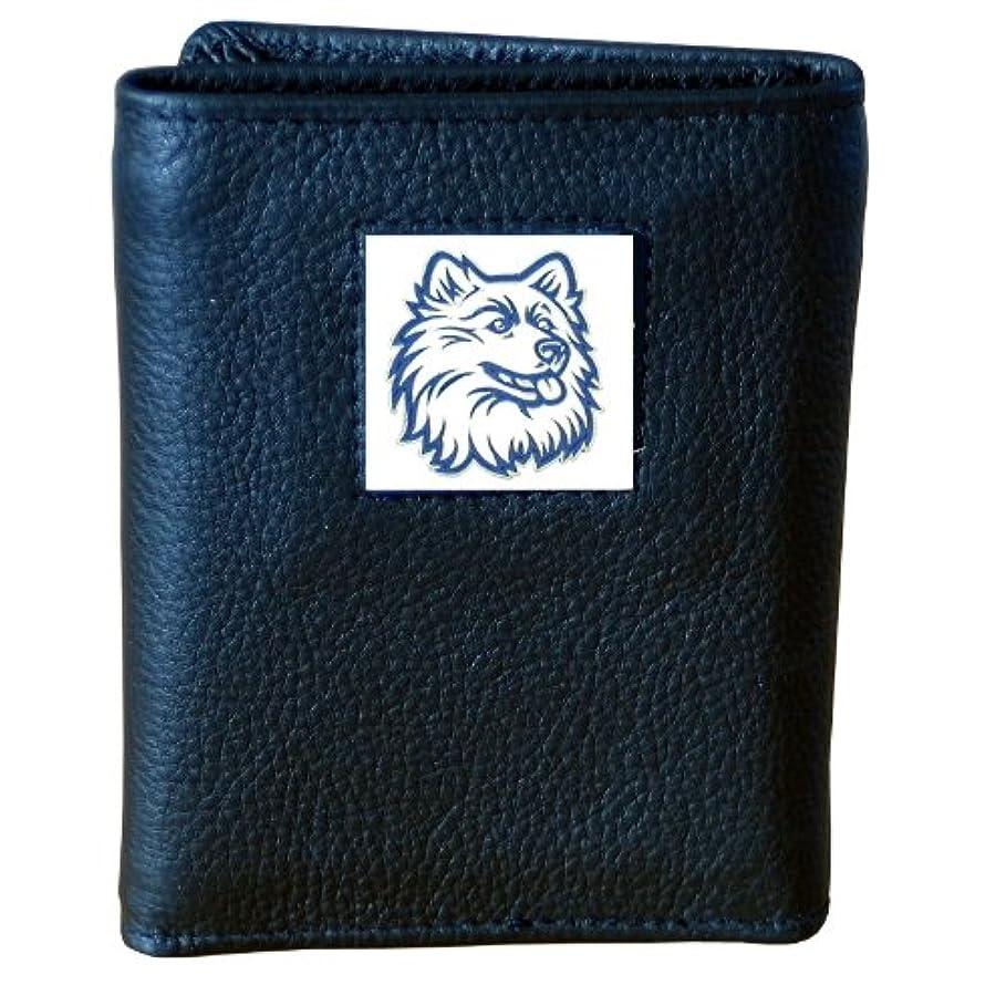 スプレーからに変化する瞑想NCAAデラックスレザー三つ折り財布
