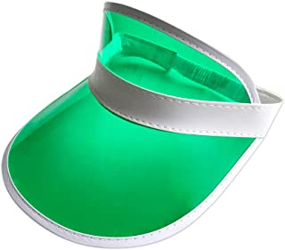 YH Poker 5PCS Green Dealer Visors,Costume Hat, One Size Fits Most,Expandable Headband ¡­