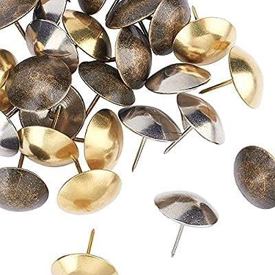 Estos clavos decorativos de hierro tienen 3 estilos., cada uno tiene 10 piezas. La superficie lisa se puede combinar con cualquier diseño de decoración., que satisfaga sus necesidades de diferentes estilos de decoración. Se puede utilizar para la dec...