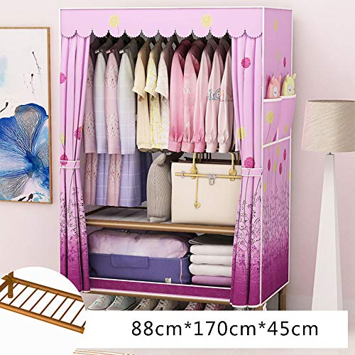 Best Prices! Wardrobe Simple Cloth, Portable Household, Vertical Clothes Storage Cabinet, Assembled