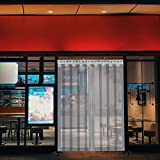 VEVOR Tenda per Porta Esterna in PVC, Tenda a Striscia Trasparente, Tendaggio di Porta con Staffa e Unghie Resistenza a Vento Acqua Graffi Temperatura per Supermercati, Negozi (2,25Mx30CM)