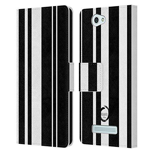 Head Case Designs Offizielle Marianna Mills Schwarz Mimimalist Gemischte Kunst Leder Brieftaschen Huelle kompatibel mit Wileyfox Spark/Plus