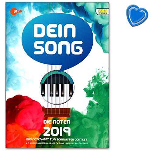 Jouw Song 2019 - De noten met tekstteksten en leuke tips - Songbook voor piano, zang, gitaar met online audio en hartvormige muziekklem