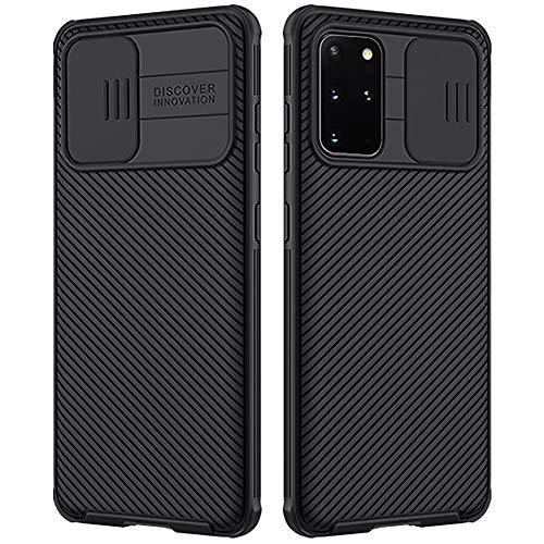 Nillkin Samsung Galaxy S20+ Plus Hülle, CamShield Pro Handyhülle mit Kameraschutz & Anti-Rutsch Stoßfest Kratzfest Ultra Dünn Schutzhülle für Galaxy S20 Plus Hülle Schwarz