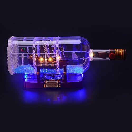 LIGHTAILING Set di Luci per (Nave in Bottiglia) Modello da Costruire - Kit Luce LED Compatibile con Lego 21313 (Non Incluso nel Modello)