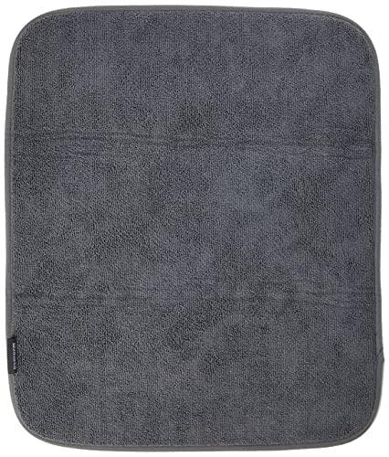 Brabantia Sink Side Tappetino Scolapiatti, Microfibra, Grigio (Dark Grey), 47 x 40 x 1 cm