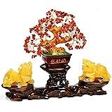 NYKK Ornamento de Escritorio Suerte Adornos Adornos Fengshui Bonsai Estilo de decoración for la abundancia y la Suerte artesanías decoración