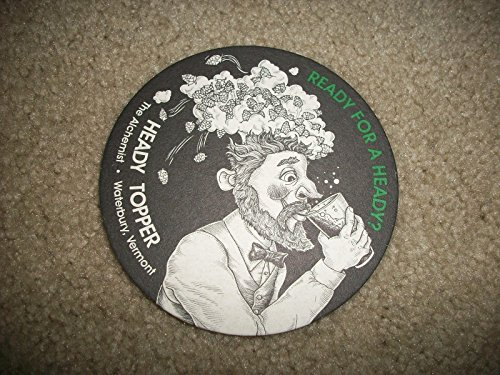 The Alchemist Vermont - Heady Topper Double IPA - Set of (2) Double-Sided Coasters