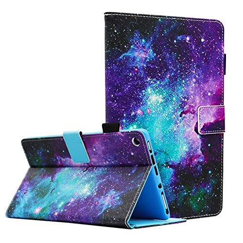 Bbjjkkz Case for HD 8 Tablet (8th / 7th / 6th Generation - 2018, 2017 and 2016 Release), Full Body Protective PU Leather Folio Smart Stand Cover, Not Fit HD 8 10th Gen 2020 Release, Space