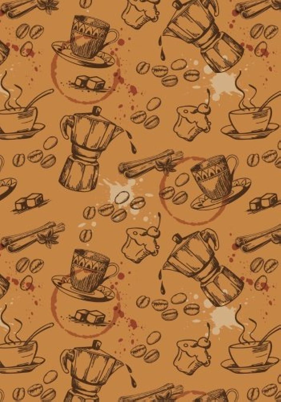 周辺隣接する有名人Coffee Icons Notebook -- Creative Journal: 7x10, Cream Paper, 5mm Dot Grid, 184 Pages