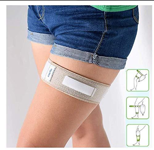 sxllss Zwei Bein Beutel mit anhängen Katheter, Inkontinenzartikel, Blasenkatheter-Fixiervorrichtung Siliciumdioxid stabilisiertes komfortable rutschfeste Sicherung,White-67cm*5cm
