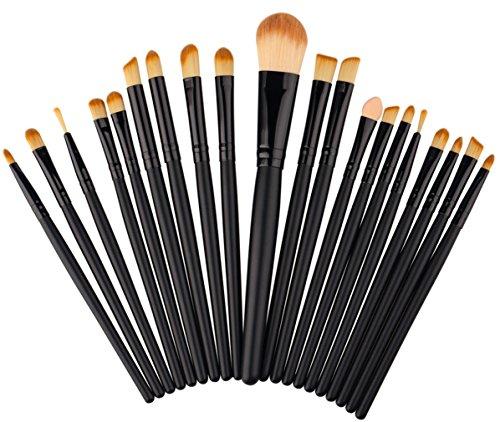 Dosige 20 pcs Set Multifonctionnel Pinceaux Professionnel Pinceaux de Maquillage Yeux Brosse de Brush Cosmétique Professionnel - Noir