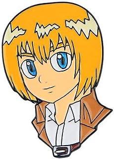 Broche de metal esmaltado para armines, diseño de Armin